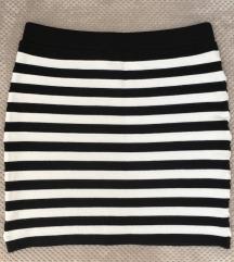 Crno bijela mini suknja, forever21, M