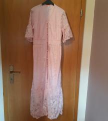 Nova roza cipkasta haljina