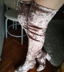 Over the knee velvet ASOS čizmice