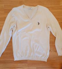 US Polo bijela pletena majica, vel. M