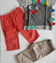LOT Next majica +2x Okaidi hlače   vel.86 -92