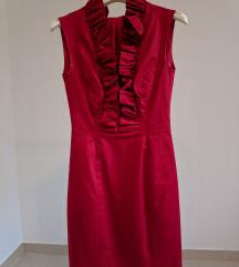 Crvena uska haljina, vel 34