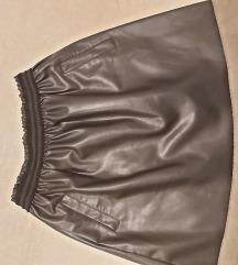 Zara mini kožna suknja M