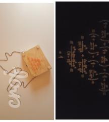 Matematička handmade torbica; svijetli u mraku