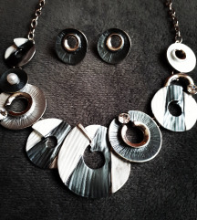 Komplet ogrlica + naušnice NOVO! Lot