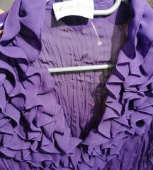 Bluza ljubicasta na volane M