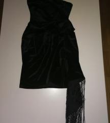 Baršunasta crna haljina/asos