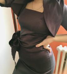 Svečana purpurna haljina i bolero RASPRODAJA!