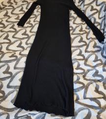 Zara crna haljina ispod koljena