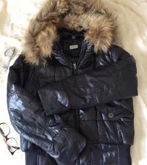 Borgofiori zimska jakna pernata s pravim krznom