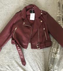 Kožna jakna sa etiketom