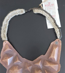 Replay masivna kožna ogrlica
