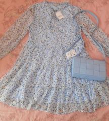 Baby blue haljina i torba novo s etiketom