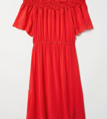 Nova crvena ljetna haljina, vel. 46-48