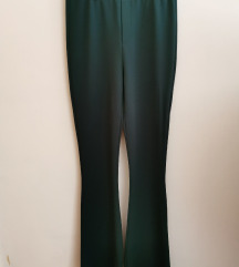 Elegantne smaragdno zelene moderne hlače