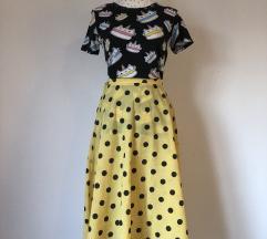 Midi vintage suknja & tshirt