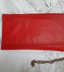 Crvena clutch torbica