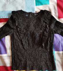 Zara čipkasta majica s