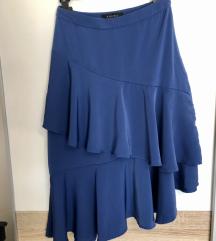 Satinirana asimetrična suknja