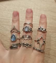 Lot prstena, 10 kom