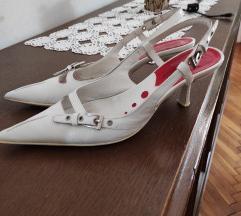 Bijele sandale-cipele/prava koža/%sad 100