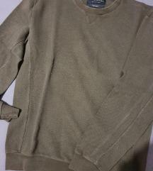 Zara muški maslinasti pulover/ L