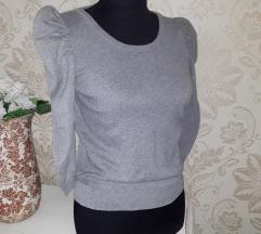 H&M pletena majica s puf rukavima
