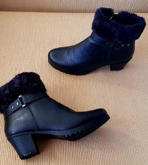 Sylvine ženske crne kožne čizme (nenošeno)