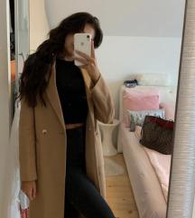 Zara krem oversize kaput