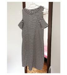 Zara mini, prugasta haljina (off shoulders)