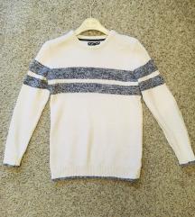 Bijeli džemper s prugama vel S