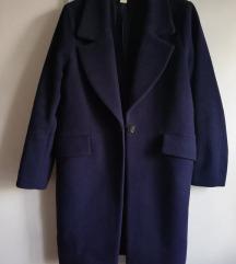 oversized dugi tamnoplavi kaput