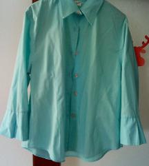 Svijetlo plava pamučna košulja s 3/4 rukavima