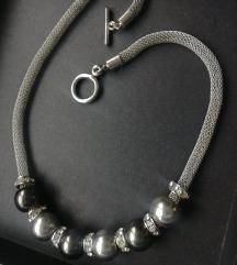 Novi srebreni set /ogrlica i narukvica na poklon
