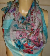 marama vintage svilena cvjetna