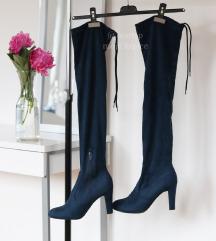 CCC plave  čizme na petu-1x nošene