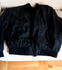 Crna bomber jakna prava svila