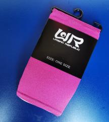 Nove pink najlonke čarape - one size