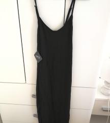 Zaful nova, jednostavna, crna, pamučna haljinica