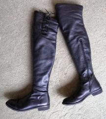 Čizme kožne iznad koljena  38