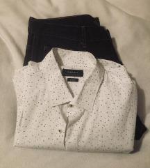 Zara Man Traperice Jeans i Košulja Lot Novo