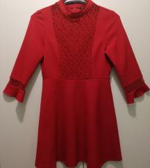 2+1 GRATIS, NOVO Zara crvena haljina, vel M