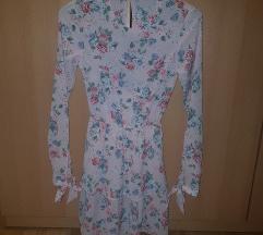 Nova h&m cvjetna haljina, otvorena leđa