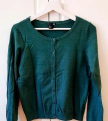 H&M zeleni pulover s gumbima