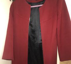 Zara tamno crveni kaput S