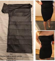Kožna haljina 2u1
