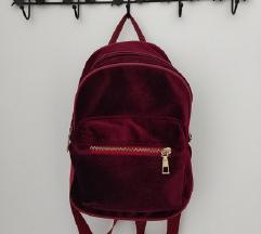 Crveni velvet ruksak