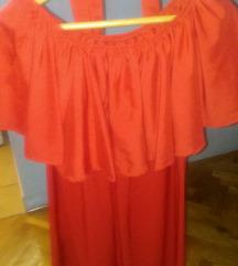 Nova crvena haljina s volanom!