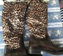 80 knn%% Gumene leopard čizme 38