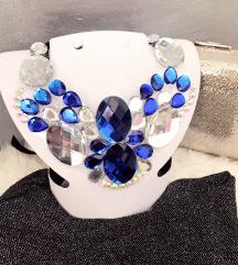 Ručno izrađena ogrlica, unikatna.
